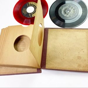 Vintage Record Album 45 RPM Storage Book 60s 50s